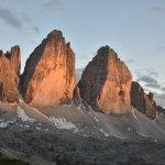 tre cime tramonto
