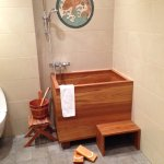 "Here's the ""tub"" in our ""Japanese"" bathroom. A scary adventure to get into and out of!"