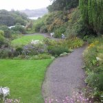 View of award-winning landscape and Cashel Bay from upper Garden Room at