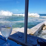 The view from our table of the tidal pool