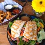 Fried Calamari and Wild Local Halibut Salad