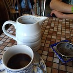 Cowboy coffee, actually a variation on French press