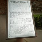 Pic shows details of bullet marks on the wall