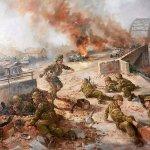 Schilderij van de slag om Arnhem