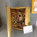 This was my favourite in the dolls house exhibition - called the library.