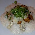 risotto aux champignons et fromage de chevre