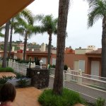 View from balcony of terraced unit