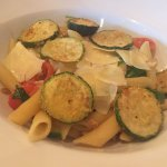 Courgette & spinach penne. - Spinach, cherry tomatoes, garlic & chilli in white wine, pine nuts.