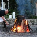 The White Gull Inn fish boil, the moment before the kerosene added for the boil off