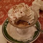 Real whipped cream on top! Best Tiramisu ever!