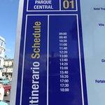 T3 Bus (Beach) Schedule from Parque Central