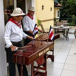 Marimba band for the breakfast on Independence Day