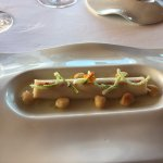 Asparagus and chick pea cream