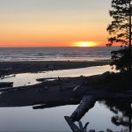 Sunset from the bluff at Kalaloch Lodge
