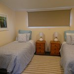 Single beds in two bedroom cottage