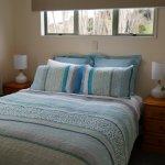 Queen bed in two bedroom cottage