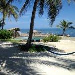 Salt water pool beside the ocean in front of Bermuda Beach.