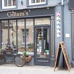 Front of Gillam's cozy shop