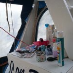 More detritus on deck.