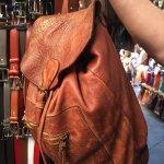 "My favorite ""Indiana Jones bag"" I bought at the Mercato"