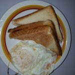 One egg and toast for breakfast