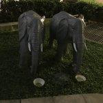 Fun little baby elephant statues