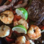 Fajitas for two - Steak and Shrimp