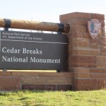 Cedar Breaks entrance at North View on scenic route 143