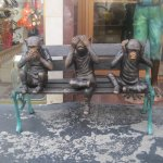 Statues outside store