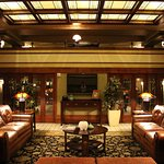 Hotel lounge.