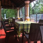 Enjoy the breakfast in this beautiful setting with trees around