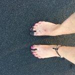 soft black sand