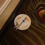 The plate in our hallway for the duration of our stay.