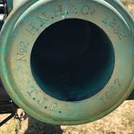 Original cannon barrels can be told by the date on the muzzle.