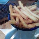 rib special, chips & slaw