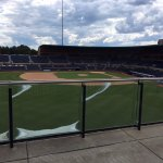 Durham Bulls view of home plate from restaurant