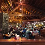 Glacier Brewhouse dining room and open kitchen