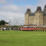 """""""Changing of the guards"""" ceremony in front of the main building."""