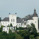 View of Schloss Ottensheim Castle from our table