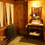 Washstand included in room