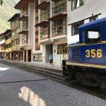 Train on main street runs past the Casa Del Sol