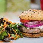 Local lamb burger - lunch + dinner