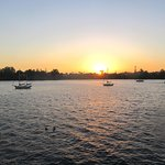 View at Sunset from Santa Cruz Wharf, Santa Cruz, Ca
