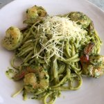 Pesto Shrimp - served over a choice of pasta or rice
