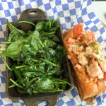 Lobster Roll, dressed - served with a choice of sides ranging from mac & cheese, to garlic spina