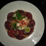 Seared beef and bannana blossom salad