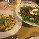 Delicious gnochi and caprese salad