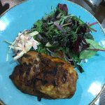 A very poor half roast chicken with an unsatisfactory salad to replace the chips.