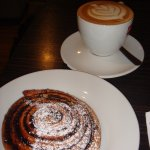Cocoa roll and coffee