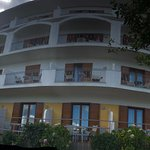 Hotel panoramic view from the garden